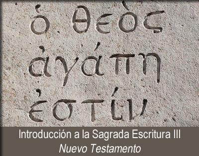 Introducción a la Sagrada Escritura III - Nuevo Testamento
